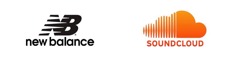 Logo met strepen