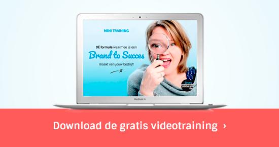 Gratis videotraining - Bouw een BrandToSucces met je bedrijf